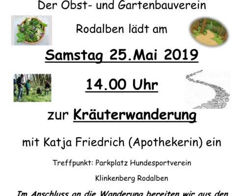 Kräuterwanderung Obst und Gartenbauverein Rodalben 2019