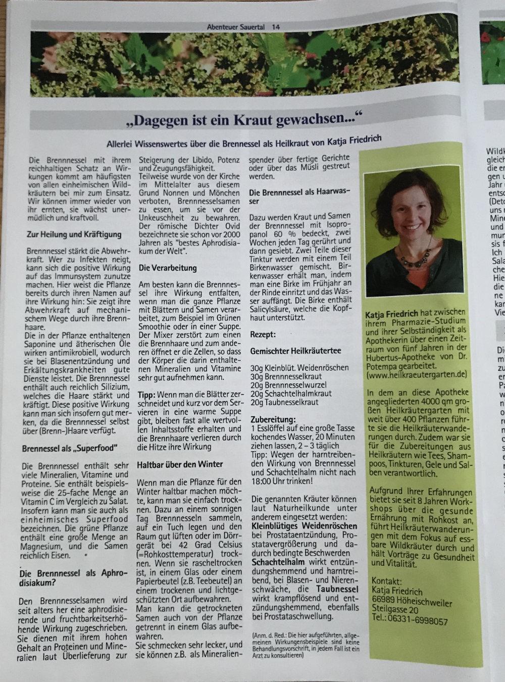 Abenteur Sauertal Katja Friedrich froh leben