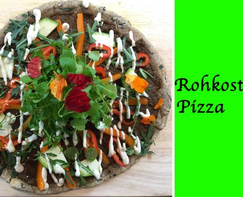 Rohkost-Pizza froh leben